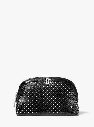 Michael Kors Monogramme Studded Leather Travel Pouch