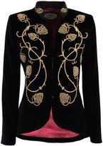 The Extreme Collection Black Embroidered Blazer Alejandra