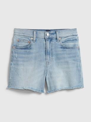 """Gap 4"""" High Rise Denim Shorts With Raw Hem"""