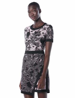 BCBGMAXAZRIA Azria Women's Olympia Knit Printed Short Sleeved Wrap Dress