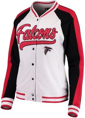 New Era Women's White/Black Atlanta Falcons Varsity Full Snap Jacket