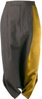 UMA WANG Colourblock Panelled Midi Skirt