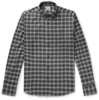 Faherty Everyday Button-Down Collar Checked Stretch-Cotton Shirt