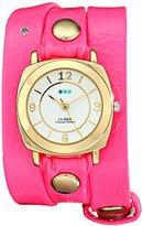 La Mer Women's LMODYREFINERY001 Neon Pink/Gold Odyssey Watch