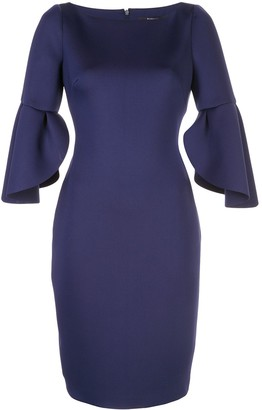 Badgley Mischka Tulip Sleeve Dress