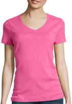 ST. JOHN'S BAY St. John's Bay Short-Sleeve V-Neck T-Shirt