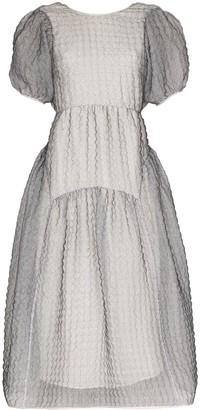 Cecilie Bahnsen Katrine cloque midi dress