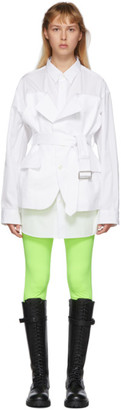Junya Watanabe White Blazer Shirt Dress