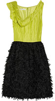 Oscar de la Renta Embellished gauze and organza dress
