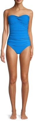 Gottex Swim One-Piece Ruched Bandeau Swimsuit