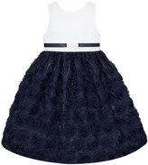 American Princess Girls 7-16 American Princess White Bodice Soutache Skirt Buckle Dress