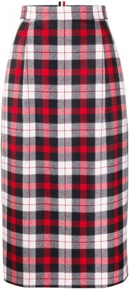 Thom Browne Checked High-Waisted Skirt