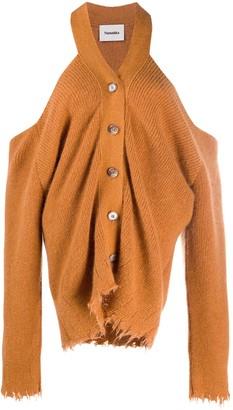 Nanushka Cut-Out Button-Up Cardigan
