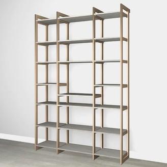 "Martha Stewart California Closets The Everyday System 87"" Kitchen Pantry Finish: Gray Woodgrain Gold"