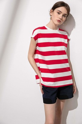 J.ING Willow Red Striped Muscle Tank