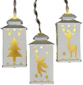 Kurt Adler Battery-Operated LED Miniature Lantern Light Set