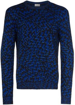 Saint Laurent Eclaire zig-zag jacquard sweater