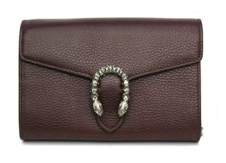 Gucci Dionysus Burgundy Leather Clutch bags