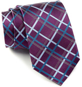 English Laundry Plaid Silk Tie