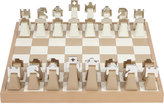 Renzo Romagnoli Leather and Chrome Chess Set