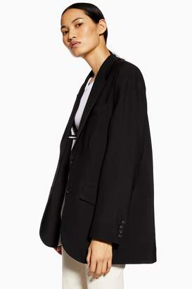 Topshop Womens **Wool Rich Ultimate Blazer By Black