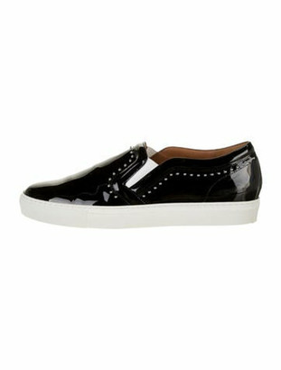 Givenchy Patent Leather Studded Accents Sneakers Black