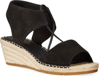 Eileen Fisher Agnes Nubuck Wedge Espadrille Sandals