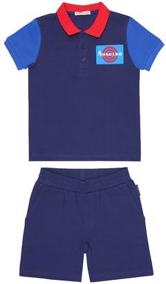 Moncler Enfant Cotton T-shirt and shorts set