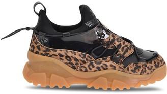 Pinko Animal Pattern Trek Sneakers