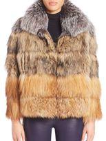 Elizabeth and James Vienna Fox Fur Jacket