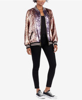 True Religion Sequin Bomber Jacket