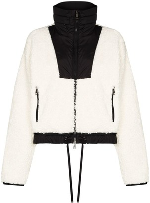 Moncler Maglia faux-shearing cropped jacket