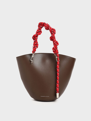 Charles & Keith Rope Handle Trapeze Tote