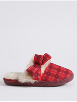 M&S Collection Fur Mule Slippers