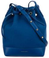 Mansur Gavriel Leather-Trimmed Mini Bucket Bag