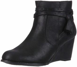 Sugar Women's HIYA Casual Platform Wedge Heel Ankle Boot with Side Tassels