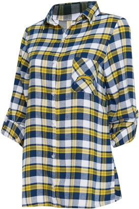 Unbranded Women's Concepts Sport Navy/Gold Los Angeles Chargers Piedmont Flannel Button-Up Long Sleeve Shirt