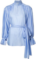 Vika Gazinskaya high neck gathered blouse - women - Cotton - 36