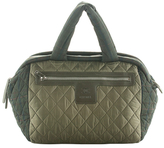 Chanel Vintage Green Quilted Nylon Coco Cocoon