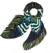 Tory Burch Diamond Square Fringe Scarf
