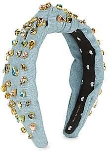 Lele Sadoughi Women's Candy Jeweled Denim Knot Headband
