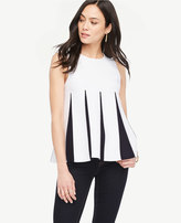 Ann Taylor Colorblock Pleated Sweater Tank