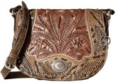American West Rosewood Saddle Flap Crossbody
