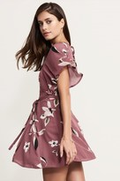 Dynamite Floral Fit And Flare Dress With Belt