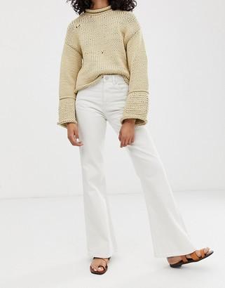 WÅVEN Fenn flared jeans-White