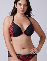 Tartan Plaid Front-Close Boost Plunge Bra