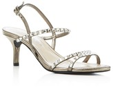 Caparros Christine Rhinestone-Embellished Metallic Sandals