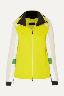 Kjus Laina Neon Color-block Hooded Ski Jacket - Bright yellow