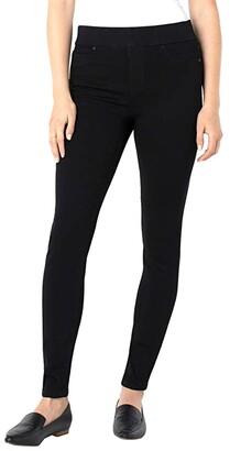 Liverpool Sienna Skinny Jean Leggings in Black Rinse (Black Rinse) Women's Jeans