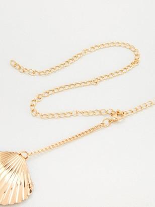 Very Shell Metal Waist Belt - Gold